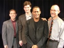 Members of the quartet flank Keith Byron Kirk who also performed two songs during the evening.