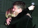 A tearful (yet happy) embrace Photo
