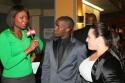 Elijah Kelly and Nikki Blonsky being interviewed by CNN's Lola Ogunnaike