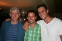 Tony Roberts, Robert Ahrens and Cheyenne Jackson