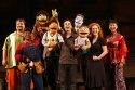 The company of Avenue Q (l-r): Cole Porter, Carla Renata, Nicky, Princeton, Robert McClure, Rod, Kate Monster, Kelli Sawyer and Angela Ai