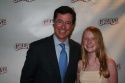 "Stephen Colbert (Comedy Central's ""The Daily Show"") with his daughter Madeline"