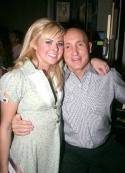 Laura Bell Bundy and Birdland's proprietor Gianni Valente