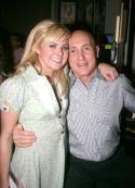 Laura Bell Bundy and Birdland's proprietor Gianni Valente