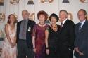 West Side Story Creators, l-r:  Jamie Bernstein Thomas, Stephen Sondheim, Carol Lawrence, Chita Rivera, Michael Callan, Alexander Bernstein.
