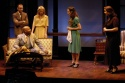 Ben Masur (as Trofimov), (seated) James Ware (as Lopakhin), Jessica Myhr (as Anya), Elizabeth A. Davis (as Varya) and Susan Ferrara (as Lubov)