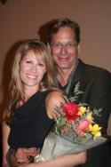 "Jodi Stevens with her husband Scott Bryce (CBS's ""As The World Turns"")"