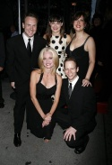 Ashley Brown with cast members James Donegan, Janet Dickinson, Jared Bradshaw and Valerie Fagan