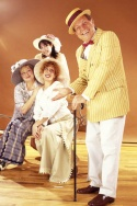 """(from left to right) LISA FISHMAN, LISA RUBIN and JOANNE BORTS are sure MIKE BURSTYN can do no wrong in """"On Second Avenue."""""""