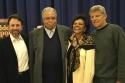 Leonard Foglia (Director), James Earl Jones, Leslie Uggams, and Ernest Thompson (Playwright)