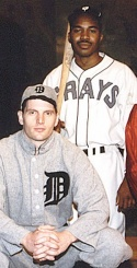 Matthew Mabe (left) and Eric Ware in the 1995 premiere of Cobb at Penguin