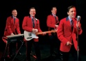 l-r: Stephen Ashfield (playing Bob Gaudio), Glenn Carter (playing Tommy Devito), Philip Bulcock (playing Nick Massi) and Ryan Molloy (Frankie Valli)