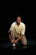 David Engel ties his shoes… Photo