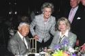 Don Hewitt Dina Merrill with Candice Bergen