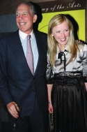 New Line Cinema CEO Michael Lynne with honoree Cindy Sherman
