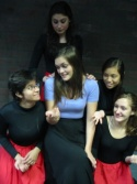 Liana Gineitis (center) as Anita with Jessica Nahigian, Amelia Stone, Thuy-Van Tran and Rosey Allen as the girls