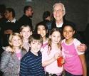 The toymaker Frank Raiter, and the Chitty kids Ellen Marlow, Struan Erlenborn, Jaclyn Neidenthal, Emma Wahl, Brynn Williams, Libbie Jacobson.