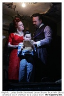 Viriginia Louise Smith (Mother), Jesse Shane Bronstein (Boy) and Ted Koch (Fater) in a scene from THE PILLOWMAN