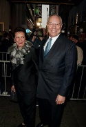 Colin Powell and his wife Alma