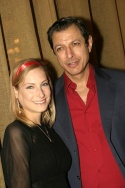 Jeff Goldblum and Catherine Wreford