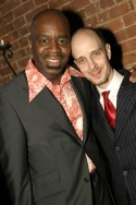 Ken Roberson (Honoree) & Taro Alexander (Artistic Director of Our Time Theatre)  Photo
