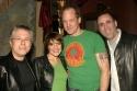 Alan Menken (Music), Brooke Tansley (Belle), Steve Blanchard (Beast), and Robert Je Photo