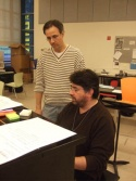 Here is composer JOHN BUCCHINO listening to a bit of his music played by musical director CONSTANTINE KITSOPOULOS.