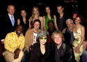 The Cast of LENNON with Producer Allan McKeown, Director Don Scardino and Yoko Ono. First Row (sitting l-r) Yoko Ono, Director Don Scardino. Second Row (sitting l-r) Michael Potts, Will Chase, Chuck Cooper, Terrence Mann, Marcy Harriell. Standing (l-r) Pr