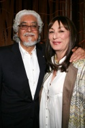 Anjelica Huston and husband Robert Graham