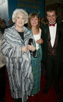 Original stars from the 1968 film, Sally Ann Howes (Truly Scrumptious), Heather Ripley (Jemima) and Adrian Hall (Jeremy)