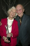 Frances Sternhagen (Edith Oliver Award for Sustained Excellence) with Tom Aldredge
