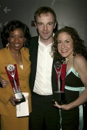 Adriane Lenox and Jenn Harris (3 way tie Best Featured Actress) with Brian F. O'Byrne Photo