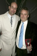 Doug Hughes (Outstanding Director - DOUBT) with Christopher Ashley
