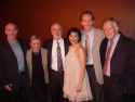 The whole cast poses after the performance: (from left) Michael Winther, Patricia Birch, Lawrence Yurman, Angel Desai, Stephen Bogardus and Michael Montel.
