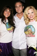 Shoshana Bean, BroadwayWorld's James Sims and Megan Hilty