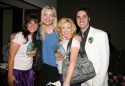 "Shoshana Bean, ""Reba's"" Melissa Peterman, Megan Hilty and Bryan Perry"