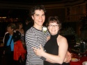 (L-R) Justin Berkobien (Buddy Holly) and Tammy Mader (Director) at the opening night  Photo