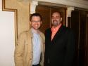 (L-R) John Pinckard (Producer of Gutenberg! The Musical) and Bill Osetek (Artistic Director of Drury Lane Oakbrook).