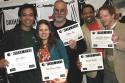From Spelling Bee: Jose Llana, Celia Keenan-Bolger, William Finn, Derrick Baskin, and Jesse Tyler Ferguson