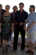 Stellan Skarsgard, Meryl Streep, producer and ABBA musician Benny Andersson and Pierc Photo