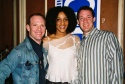 "David Drake (""The Night Larry Kramer Kissed Me""), Sarah Jones (Presenter, 2004 Village Voice Obie Award Winner, ""Bridge & Tunnel"") and husband Steve Coleman"