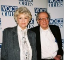 Elaine Stritch and Jerry Tallmer (Founder of the Village Voice Obie Awards)