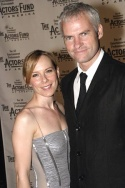 Amy Ryan (Stella in Streetcar Named Desire) and Martin McDonagh (Playwright, The Pill Photo