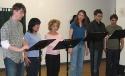 Christian Borle (Snoopy), Ann Harada (Lucy), Jennifer Cody (Sally), Sutton Foster (Pe Photo