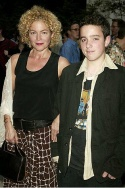 Amy Irving and her son Gabriel