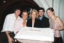 Pablo Schreiber, Jeffrey Carlson, Daryl Roth, Paul Grellong and Marin Ireland celebrate with some opening-night cake!
