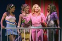 Becky Gulsvig as Elle Woods; Becky Gulsvig and the Greek Chorus of Delta Nu