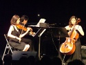 The Q Trio (Lynn Bechtold, violin; Louise Dublin, cello; Taka Kigawa, piano)