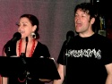 Back up singers Natalie Blalock and Eric Pickering