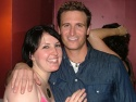 """A """"family"""" reunion: Natalie Joy Johnson and John (who played sister and brother in """"Bare"""""""